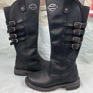 Harley Davidson Josi Black Leather Boots Size 7